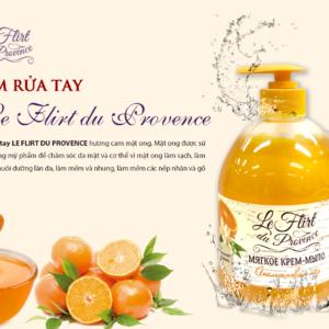 Kem nước rửa tay Le Flirt Du Provence Hương Cam - Mật Ong 520g