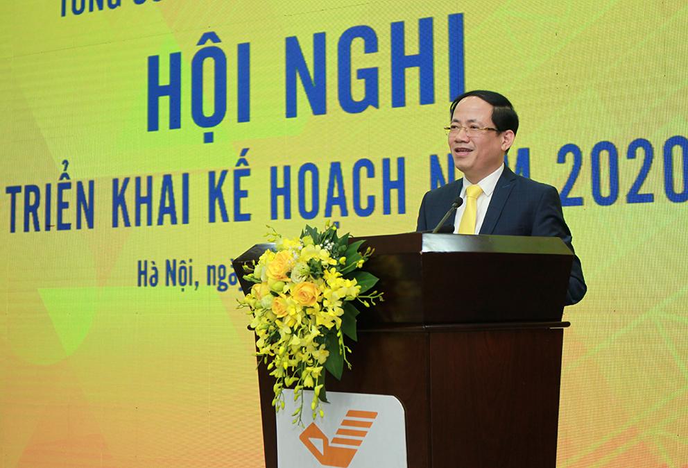 Thứ trưởng Phạm Anh Tuấn phát biểu tại Hội nghị triển khai kế hoạch 2020 của Tổng công ty